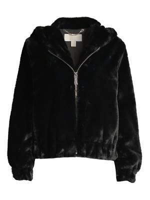 MICHAEL Michael Kors faux fur hooded jacket