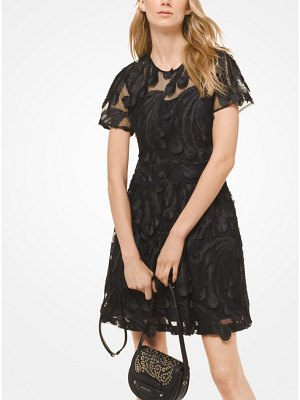 MICHAEL Michael Kors Feather Embroidered Dress