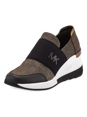 MICHAEL Michael Kors Felix Logo Slip-On Trainer Sneakers