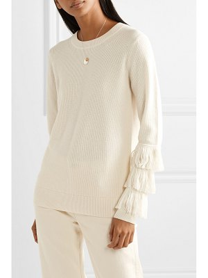 MICHAEL Michael Kors fringed ribbed-knit sweater