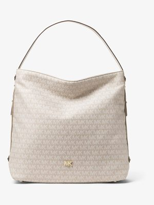 MICHAEL Michael Kors Griffin Large Logo Jacquard Shoulder Bag