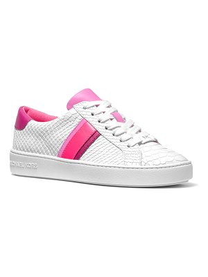 MICHAEL Michael Kors Irving Stripe Mock-Croc Court Sneakers