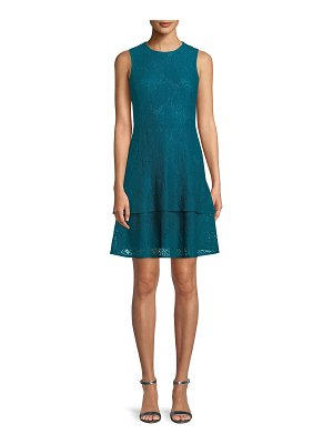 MICHAEL Michael Kors Lace Double-Flounce Sleeveless Dress