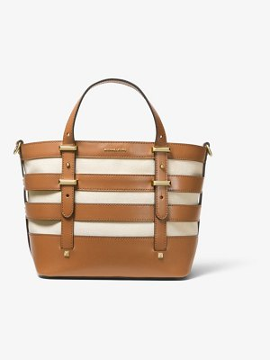 MICHAEL Michael Kors Marie Small Canvas And Leather Tote