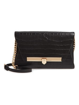 MICHAEL Michael Kors medium bekah croc embossed leather convertible clutch