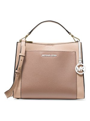 MICHAEL Michael Kors medium gemma colorblock pocket satchel