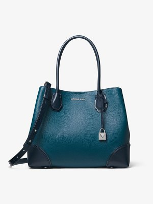 MICHAEL Michael Kors Mercer Gallery Medium Color-Block Leather Satchel