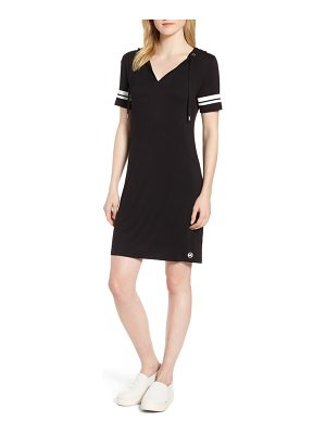 MICHAEL Michael Kors michael michal kors stripe sleeve hoodie dress