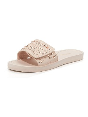 MICHAEL Michael Kors MK Crystal Pool Slide Sandals