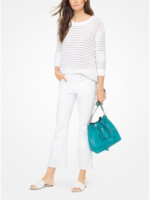 MICHAEL Michael Kors Open-Knit Stretch-Cotton Pullover
