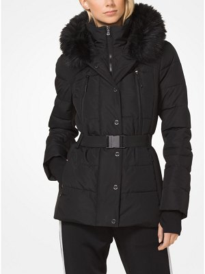 MICHAEL Michael Kors Quilted Down And Faux Fur Jacket