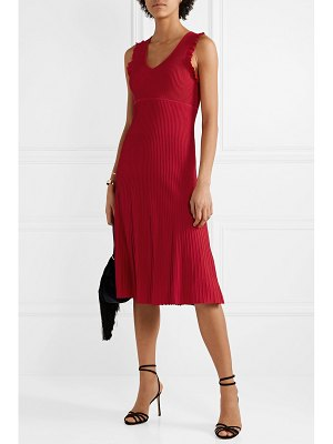 MICHAEL Michael Kors ruffled ribbed-knit midi dress