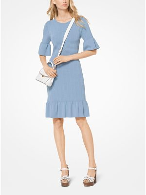 MICHAEL Michael Kors Stretch-Knit Bell-Cuff Dress