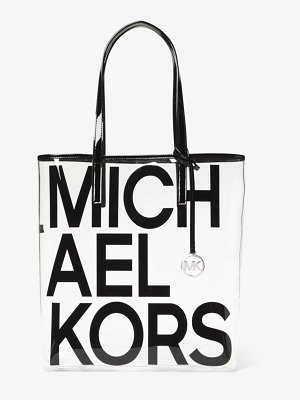 MICHAEL Michael Kors The Michael Large Graphic Logo Print Clear Tote