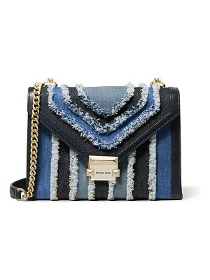 MICHAEL Michael Kors Whitney Large Denim Shoulder Bag