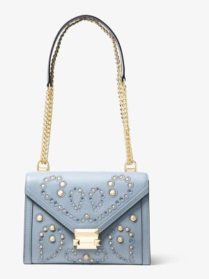 MICHAEL Michael Kors Whitney Large Embellished Leather Convertible Shoulder Bag