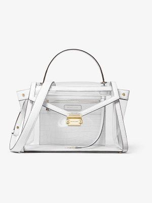 MICHAEL Michael Kors Whitney Large Pvc And Leather Satchel