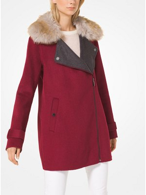 MICHAEL Michael Kors Wool-Blend And Faux Fur Coat