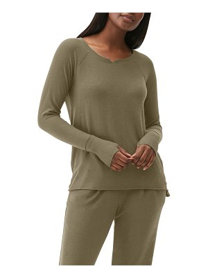 Michael Stars Notched-Neck Top w/ Thumbholes