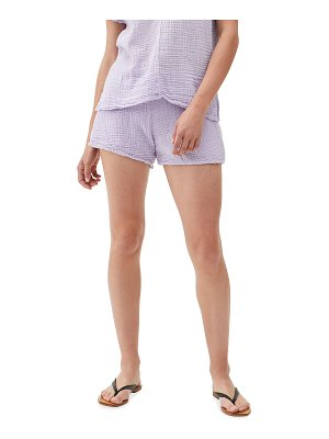 Michael Stars Peggy Smocked Waist Solid Shorts