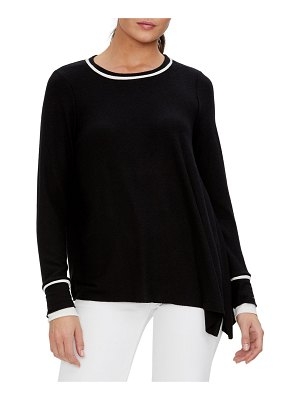Michael Stars Sinclair Asymmetrical Top w/ Contrast Piping