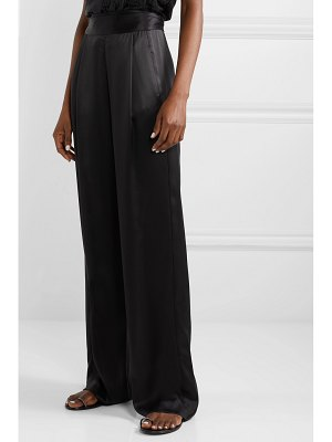 Michelle Mason gathered silk-charmeuse wide-leg pants