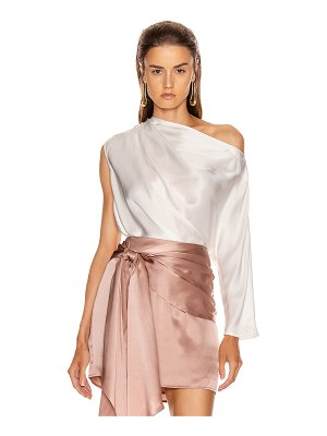 Michelle Mason one sleeve draped top