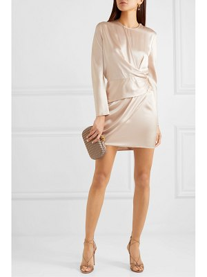Michelle Mason origami draped silk-charmeuse mini dress