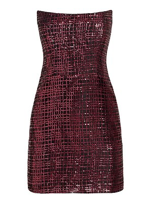 Michelle Mason sequined corset mini dress