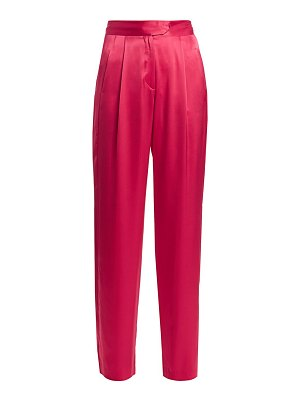 Michelle Mason silk wide-leg trousers