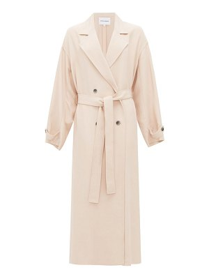 Michelle Waugh the jany double-breasted belted trench coat