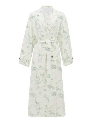 Michelle Waugh the jany double-breasted fern-print trench coat