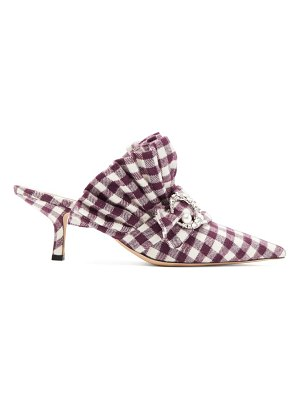 Midnight 00 crystal-moon checked cotton mules