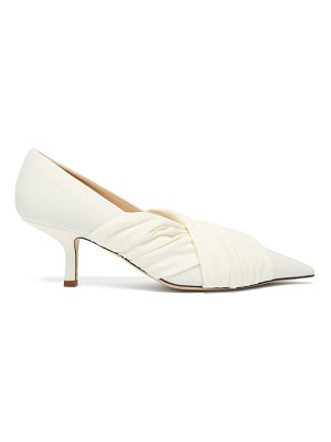 Midnight 00 point-toe stretch-jersey pumps