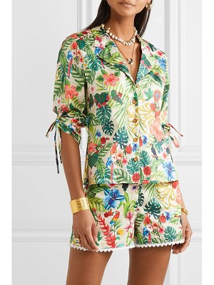 Miguelina kelly printed cotton-voile shirt