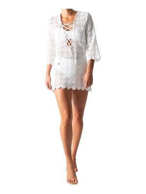 Miguelina Mariah Lace-Up Coverup Tunic