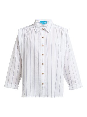 M.i.h Jeans arley jacquard-striped pleated-shoulder shirt