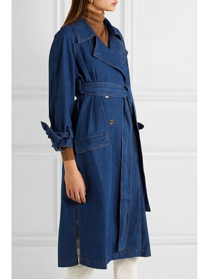 M.i.h Jeans audie belted denim trench coat