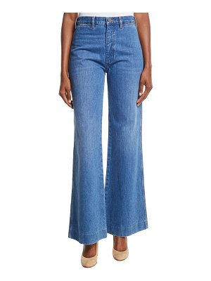 M.i.h Jeans Bay High-Rise Flared Wide-Leg Jeans