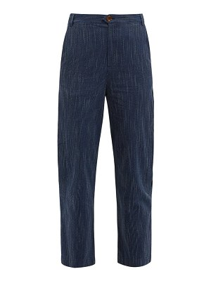 M.i.h Jeans daxton pick-stitch cotton trousers
