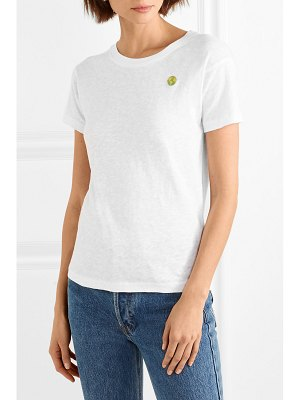 M.i.h Jeans earth tee embroidered cotton-jersey t-shirt