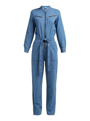 M.i.h Jeans margot pinstriped cotton-chambray jumpsuit