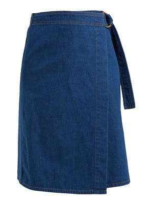 M.i.h Jeans ria cotton-chambray wrap skirt