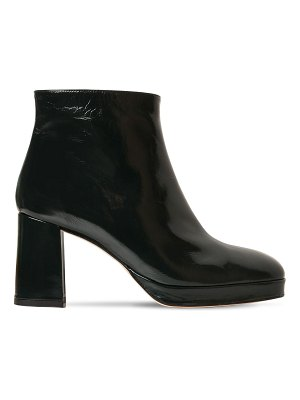 Miista 75mm edith patent leather ankle boots