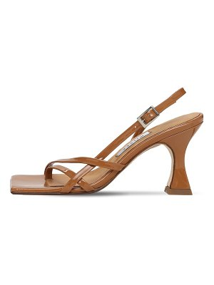 Miista 80mm amber patent leather thong sandals