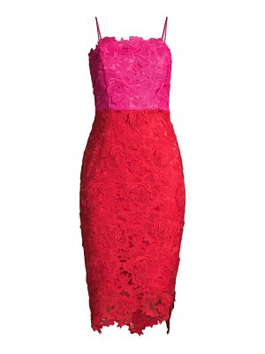 Milly 3d floral lace dress