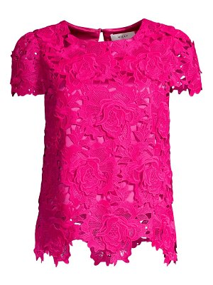 Milly 3d floral lace top