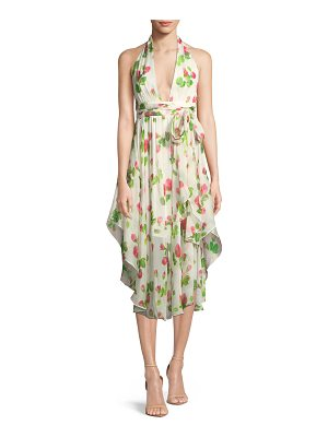 Milly Angie Floral-Print Chiffon Dress