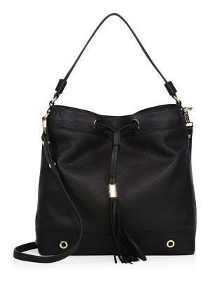 Milly Astor Leather Drawstring Hobo Bag