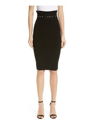 Milly belted high waist pencil skirt